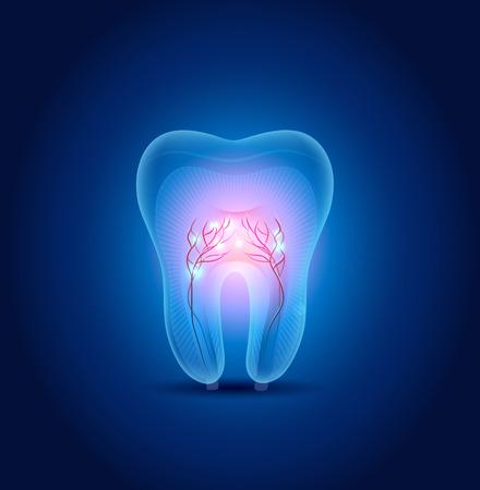 Abstract tooth illustration, beautiful bright design Illustration