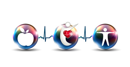 Tips how to strengthen cardiovascular system and stay healthy Illustration