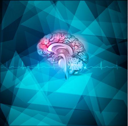 Leczenie Ludzki mózg streszczenie światło niebieskie tło