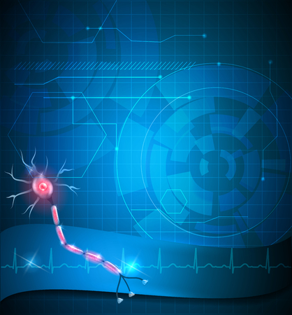 Nerve cell abstract blue background design