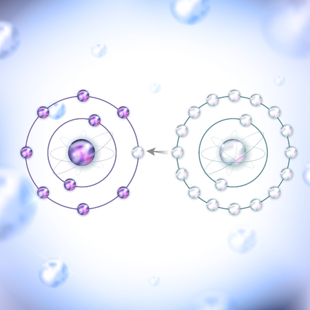 어떻게 항산화 활성 산소에 대해 작동합니다. 산화 라디칼, 이제 모든 전자가 쌍으로 늘린하는 전자 누락 기부. 추상 밝은 파란색 배경입니다.