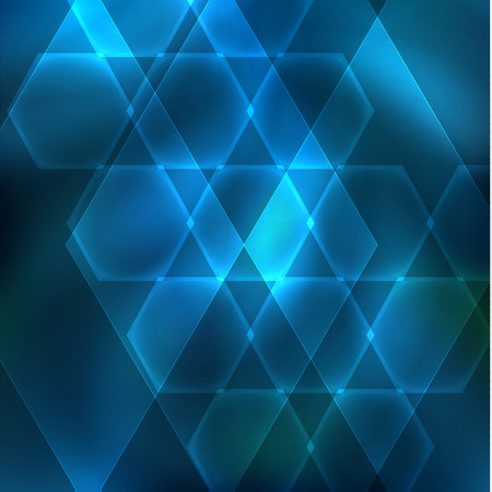 Abstract hexagon shapes dark background with lights Illustration