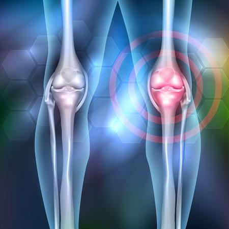 Anatomie articulaire des jambes, beau fond abstrait. Illustration