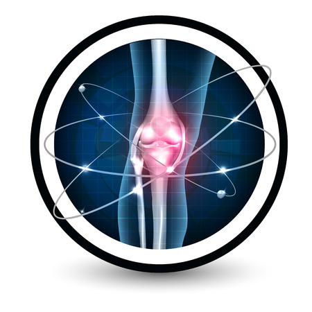Knee joint health care protection icon