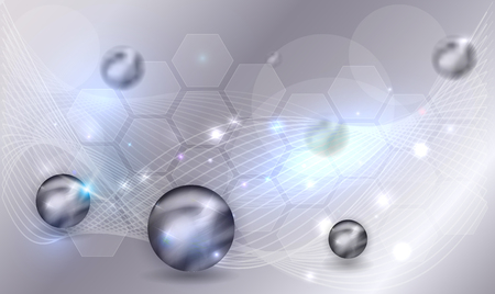 Abstract science background with balls