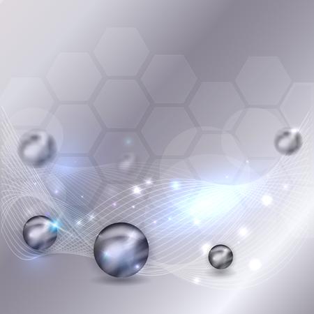 Fond de science abstraite avec vague et lueur