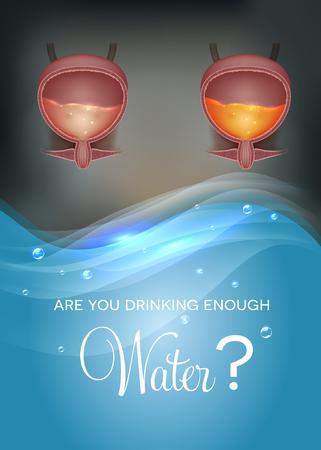Are You drinking enough water? Ilustração