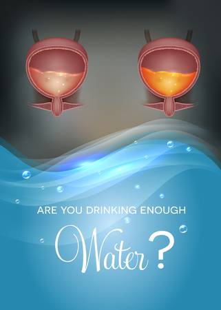Are You drinking enough water? Illustration