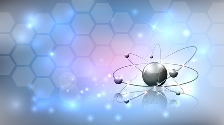 Abstract sciene background with molecule, cells and beautiful glow Illustration