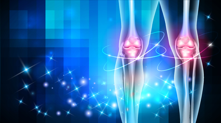 Joint damage treatment abstract blue background with beautiful glow Vector Illustration