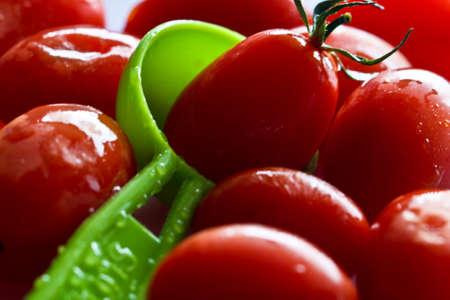 チェリー トマト 写真素材