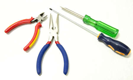 machined: pliers and screwdriver Stock Photo