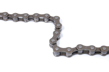 em: its a chain of an bike isolated on white background.Fahrradkette auf wei�em Hintergrund.