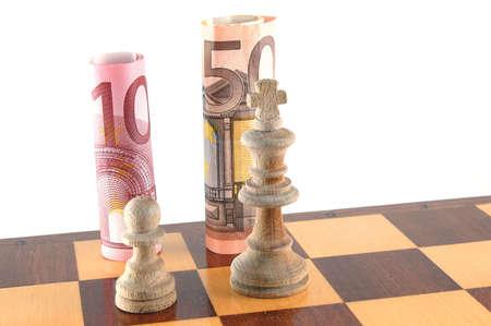 Certains Chessman isolé sur un fond blanc. Banque d'images