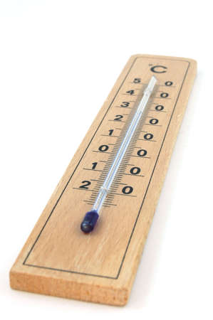 hotter: Its a Thermometer isolated on a white background. Stock Photo