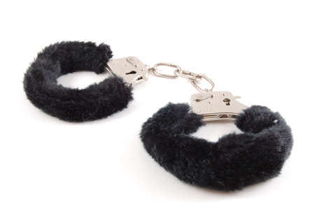 simple Handcuff isolated on a white background. Stock Photo - 3497897