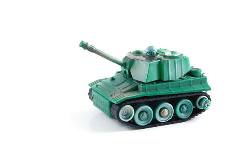 toy tank isolated on a white background. photo