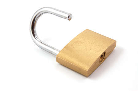 new padlock isolated on a white background. Stock Photo - 3570216