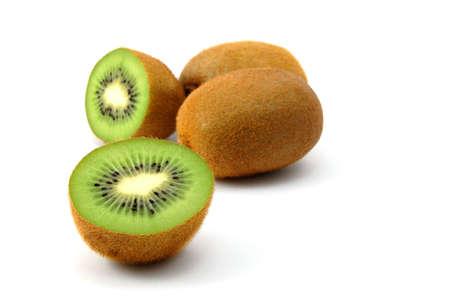 healthy green kiwi fruit isolated on white background Stock Photo - 3781076
