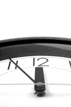 wall clock at 12. time is running out photo