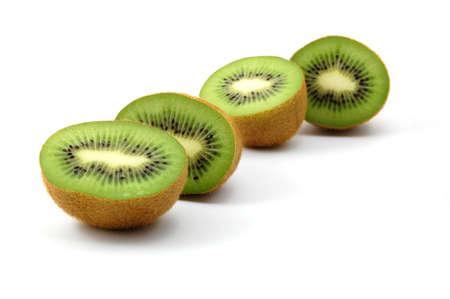 healthy green kiwi fruit isolated on white background Stock Photo - 3807694