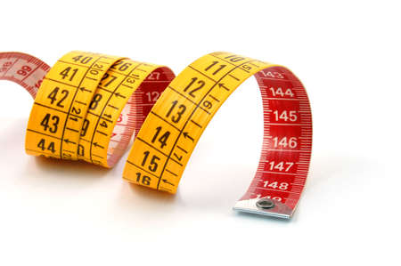 measuring tape isolated on a white background photo