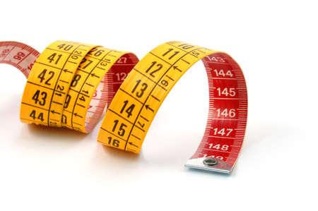 tailor measure: nastro di misura isolato su uno sfondo bianco Archivio Fotografico