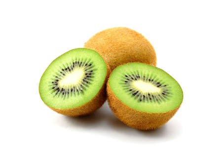 healthy green kiwi fruit isolated on white background Stock Photo - 3924963