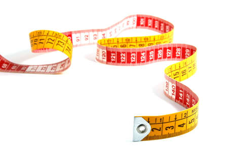 centimetre: measuring tape isolated on a white background