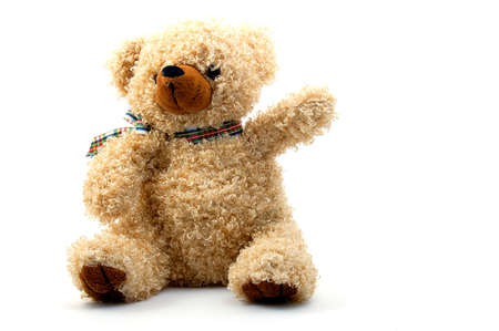 toy teddy bear isolated on white background Stock Photo - 3924970