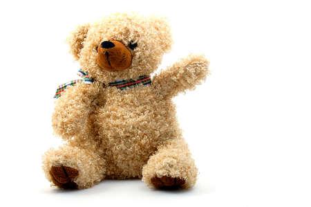 toy teddy bear isolated on white background Stock Photo - 3924970