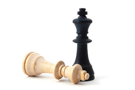chellange: chess piece isolated on white background advising to strategic behavior