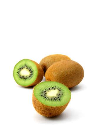 healthy green kiwi fruit isolated on white background Stock Photo - 3971549
