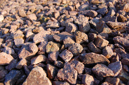 gravelly: texture of gravel can be used as background Stock Photo