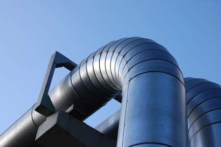 rafinery: pipes of an industrial oil pipeline for the transport of oil