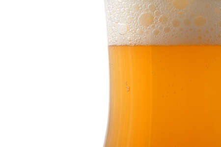 glass of german beer  with foam foam and bubbles  Stock Photo - 4097136