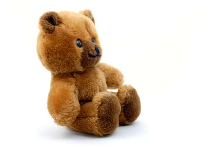 toy teddy bear isolated on white background photo