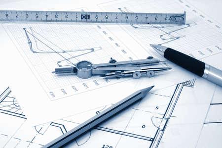 des plans pour de nouvelles r�sidentiel Esate de l'architecte Banque d'images - 4146937