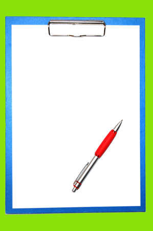 clipboard isolated on white with empty space for text message Stock Photo - 4163787