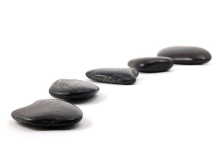 zen stones isolated on a white background Stock Photo - 4163779
