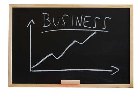 blackboard with positive business chart showing success Stock Photo - 4163808