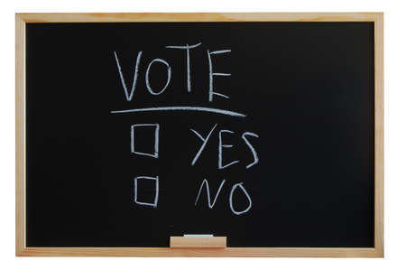 blackboard where you can vote yes or no Stock Photo - 4163794