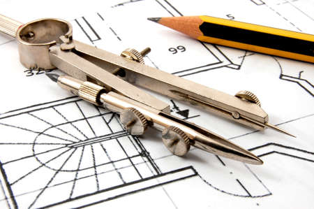 architectural architect: plans for the construction of new residential  real estate