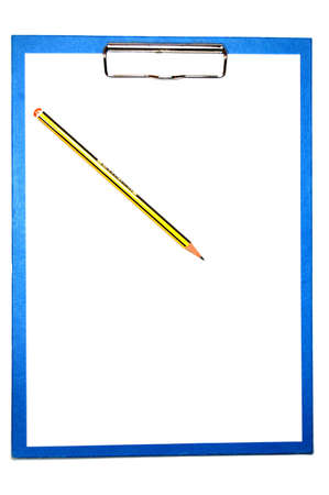 clipboard isolated on white with empty space for text message photo