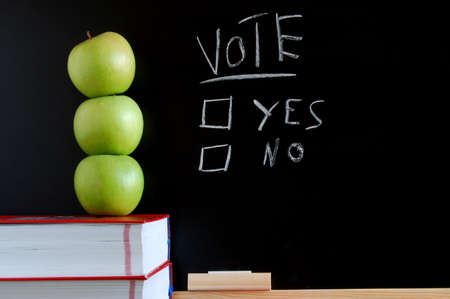 blackboard where you can vote yes or no Stock Photo - 4180281
