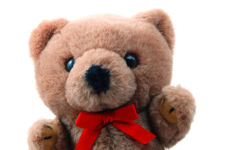 toy teddy bear isolated on white background Stock Photo - 4180307