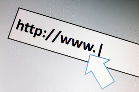 surfing with browser in the internet to a onlinebanking website photo