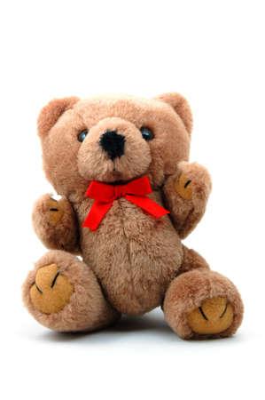toy teddy bear isolated on white background photo