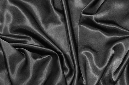 black satin: negro de sat�n de seda o de fondo con textura textil