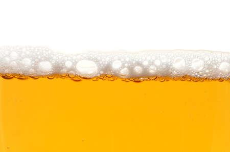 Glas Bier isoliert auf weißem Hintergrund  Standard-Bild - 4437002